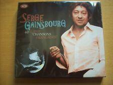 "cd SERGE GAINSBOURG 2 CD ""40 classic chansons françaises"""