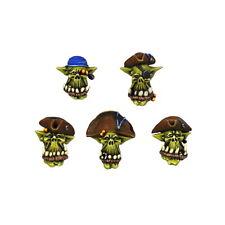 Ork Halsabschneider Piraten Köpfe Orc Cutthroats Heads (10) Bitz Kromlech NEU