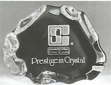Swarovski Silver Crystal Old Trademark Iceberg Dealer Plaque horizontal