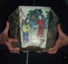 Ancienne céramique chinoise - Antique Chinese XIX/XVIII - hexagonale / Scènes
