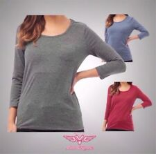 3/4 Sleeve Other Tops for Women with Pockets