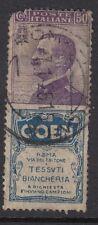 ITALIA: 1924 oppure VIOLET + Coen LABEL Attached sg171j USATO