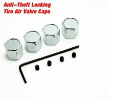 Anti Theft Locking Tire Air Alloy Car Wheel Tyre Valve Dust Caps Covers Set of 4