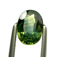 1.01 carat Oval 7x5mm Green/Blue/Yellow Natural Australian Parti Sapphire, OPS45
