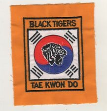 Patches Patches Black Tigers Tae Kwon Do Taekwondo Tkd