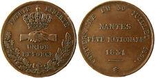 NANTES FÊTE NACIONAL 1831 , UNION Y FORCE (UNIÓN Y FUERZA) , PATRIA LIBERTÉ