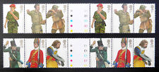 GB 2008 Military Uniforms in Complete Traffic Se-tenant Strips of 6 U/M FP1367