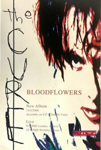 The Cure Bloodflowers Original Promo Poster 18.5 x 28 apx.