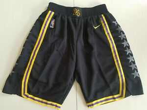 HOT Los Angeles Lakers Black City Edition Basketball Shorts Size: S-XXL