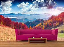 Colorful autumn landscape in the 3D Mural Photo Wallpaper Decor Large Paper Wall