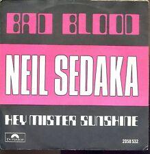 7inch NEIL SEDAKA bad blood BELGIUM EX +PS 1974