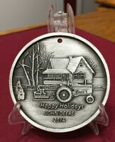 2014 John Deere Christmas Holiday Ornament by SpecCast - LP52471 - Pewter - NEW