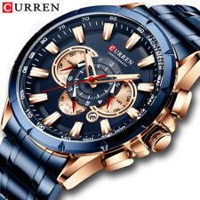 New Luxury Mens Watches Men Chronograph Waterproof Calendar Date Analogue Quartz