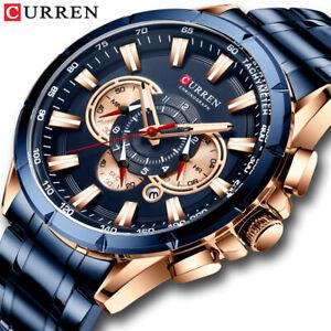 Luxury Mens Watches Watch Military Chronograph Waterproof Calendar Analog Quartz