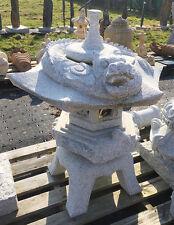 Asia Laterne mit Drache aus GRANIT Handarbeit 93cm Steinlaterne Rankei Pagode