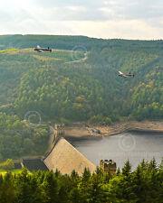 Tirage photographique 10 x 8 deux en état de navigabilité Lancaster bombardiers sur Derwent barrage 2014