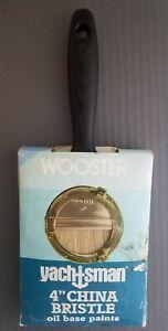 """Wooster 4"""" Yachtsman China Bristle Paintbrush Urethane, Oil, Varnish, Marine New"""