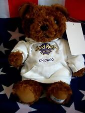 HRC hard rock hotel chicago Sweater Hoodie Bear 2010 le made by Herrington NWT