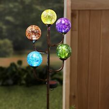 Colorful 5-Light Led Solar Stake Decoration - Lighted Garden Accent