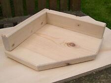 "Qty 1 - 8"" Corner Solid Pine Shelf c/w Upstand Chinchilla / Parrots / Degu etc"