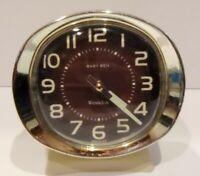 Vintage Westclox Big Ben Wind-Up Alarm Clock Ivory/Brown Glow in the Dark Hands