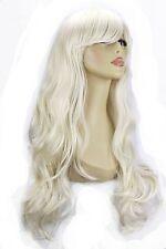 """22"""" Femmes perruque intégrale Longue AMPLES VAGUES Blonde Platine #16/60"""