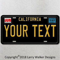 California Vintage Look Custom Your Text Personalized License Plate Tag