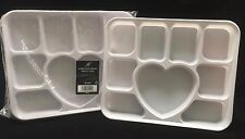 1000 x Disposable 9 section / Compartment Plastic Plates Tray - Party