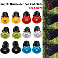 Pair Bike Bicycle Aluminum Handlebar Grips Cap Plug Handle Bar Caps End Plugs