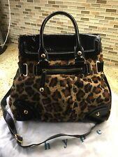 hype  Genuine Calf Hair Leather Leopard Print Bag