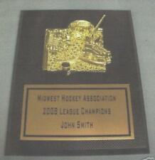 HOCKEY  trophy plaque carbon fiber design personalized