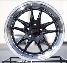 18X9.5 +38 F1R F102 5X112 +38 BLACK RIMS FITS AUDI A3 TT VW PASSAT CC JETTA GOLF