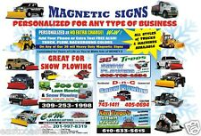 2 Magnetic Truck SIGNS printing Signs for excavator builder construction any biz