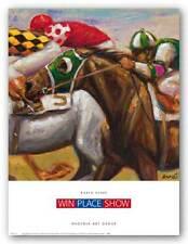 HORSE ART PRINT Win Place Show Karen Dupre