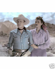 "GENE AUTRY PEGGY STEWART TRAIL TO SAN ANTONE 1947 8X10"" HAND COLOR TINTED PHOTO"