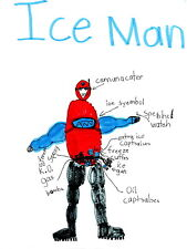 Ice Man! (ORIGINAL Drawing by seven-year-old Jack; 100% of sales donated)