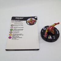 Heroclix Avengers Defenders War set Iron Man #010 Common figure w/card!