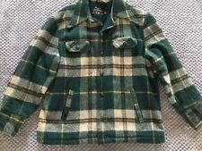 Vintage Men's Sears Plaid Chore Wool Barn Field Hunting Jacket Coat 42R Button
