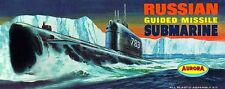 Aurora Russian Guided Missile Submarine Plastic Model Kit Sticker OR Magnet