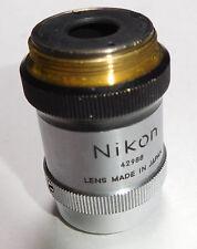 Genuine Nikon 3 Plan 0.08 Microscope Lens