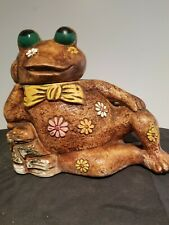 VINTAGE RECLINING FROG COOKIE JAR