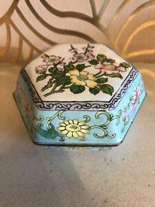 Stunning Cloisonné Hexagonal Trinket Box