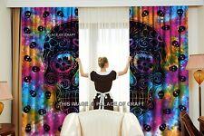 Indian Skull Curtain Drape Balcony Room Decor Window Curtains Tapestry Wall Deco