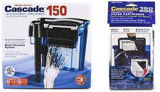 CASCADE 150 AQUARIUM POWER FILTER PACKAGE. $44.99 VALUE.