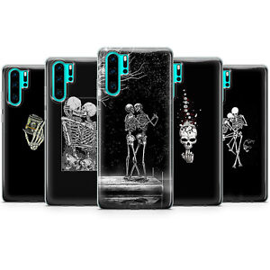 Skull Aesthetic Skeleton Phone Cases bone RIP Lovers death covers Huawei P20 P40
