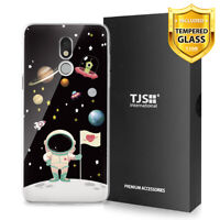 For LG Stylo 5, 5V, 5+ Plus, Phone Case TJS Juno Astronaut +Tempered Glass