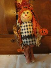 FALL Thanksgiving Straw Scarecrow Wall Mount Halloween Pumpkin Home Decor USA