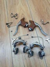 vintage Mafac Racer Competition centre pull brake set levers and hoods used