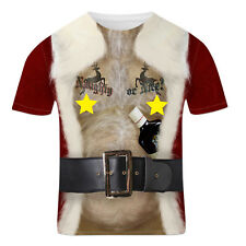 Men's Funny Christmas Rude Stag Hen Party Fancy Dress 3D Offensive Boobs T Shirt