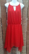 YESSICA at C&A BNWT Ladies Red Sleeveless Asymmetric Hem Dress Size 14 RRP €39